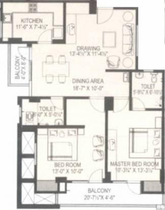 Tirupati Nilay (2BHK+2T (1,260 sq ft) Apartment 1260 sq ft)