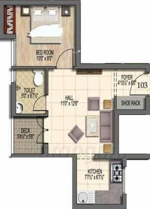 Stone Rainbow Paradise (1BHK+1T (510 sq ft) Apartment 510 sq ft)