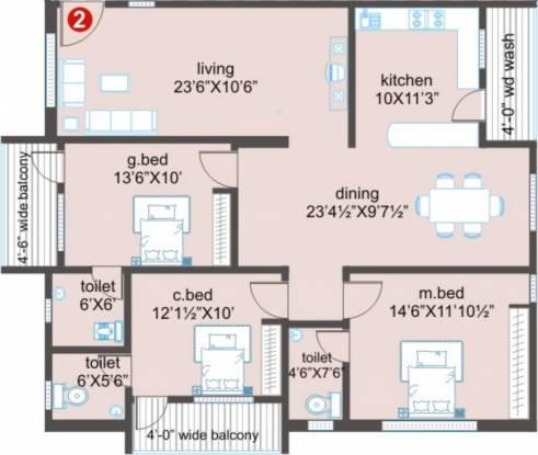 Prime Majestic (3BHK+3T (1,745 sq ft) Apartment 1745 sq ft)