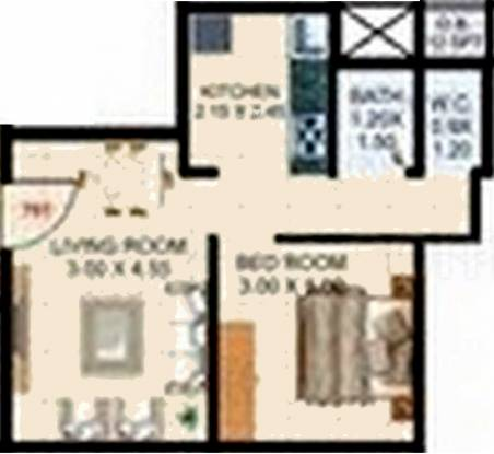 Vihar Sai Vihar CHS (1BHK+1T (657 sq ft) Apartment 657 sq ft)