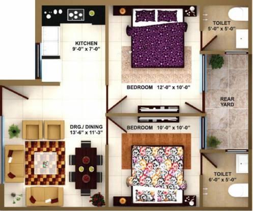 Paradise Darpan Homz (2BHK+2T (750 sq ft) Apartment 750 sq ft)