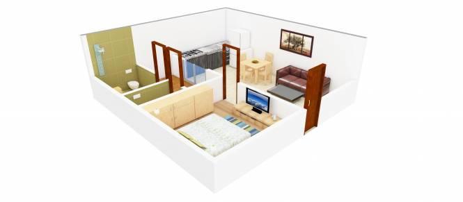 RTS Katyani Apartments (1BHK+1T (687 sq ft) Apartment 687 sq ft)