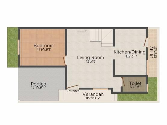 StepsStone Vaamana (3BHK+3T (1,242 sq ft) Villa 1242 sq ft)