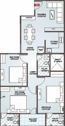 Icarus Usha Residency (3BHK+3T (1,460 sq ft) Apartment 1460 sq ft)