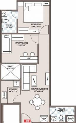 Icarus Shivansh Residency (2BHK+2T (900 sq ft) Apartment 900 sq ft)