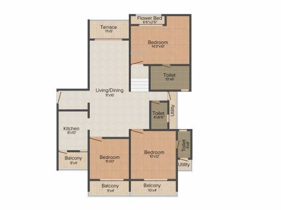Gahlot Majesty (3BHK+3T (1,771 sq ft) Apartment 1771 sq ft)