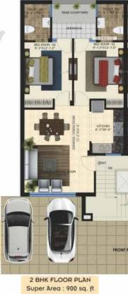 Wisteria Nav Floor (2BHK+2T (900 sq ft) Apartment 900 sq ft)