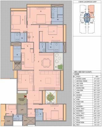 Goyal Riviera One (4BHK+5T (4,662 sq ft) + Servant Room Apartment 4662 sq ft)