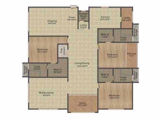 My Home Bhooja (3BHK+4T (3,430 sq ft) + Pooja Room Apartment 3430 sq ft)