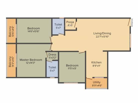 Opera Opera Anantadhama (3BHK+3T (1,650 sq ft) Apartment 1650 sq ft)