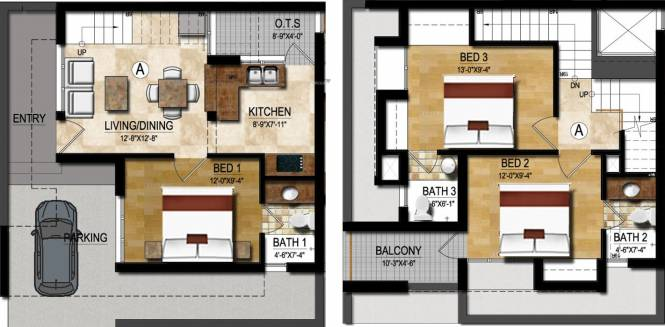 Maaruthi Embassy (3BHK+3T (1,421 sq ft) Villa 1421 sq ft)