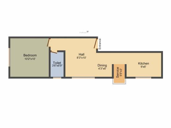 Le Sindur (1BHK+1T (495 sq ft) Apartment 495 sq ft)