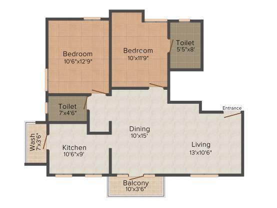 AN Nungambakkam (2BHK+2T (1,175 sq ft) Apartment 1175 sq ft)