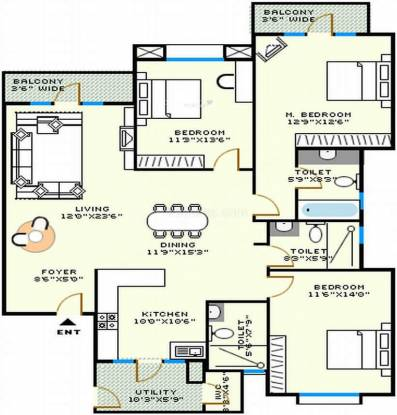 Vaswani Astoria (3BHK+3T (1,984 sq ft) Apartment 1984 sq ft)