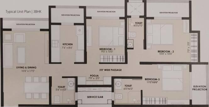 JP North (3BHK+3T (1,386 sq ft) Apartment 1386 sq ft)