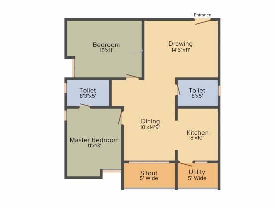 Prathap VSS Paradise (2BHK+2T (1,220 sq ft) Apartment 1220 sq ft)