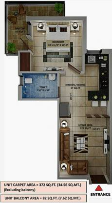Amolik Heights (1BHK+1T (372 sq ft) Apartment 372 sq ft)