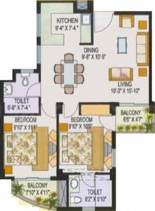 AWHO Sandeep Vihar (2BHK+2T (1,034 sq ft) Apartment 1034 sq ft)