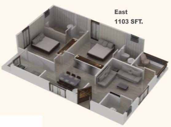 Devaalaya Devasthala (2BHK+2T (1,103 sq ft) + Pooja Room Apartment 1103 sq ft)