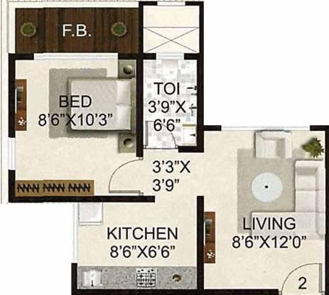JPV Padmavati Kripa (1BHK+1T (490 sq ft) Apartment 490 sq ft)