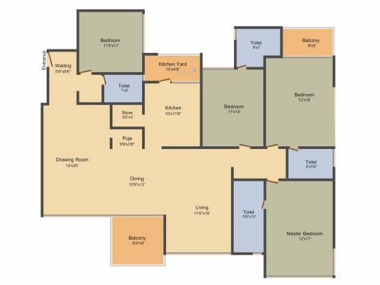 Arpan Status (4BHK+4T (3,537 sq ft) Apartment 3537 sq ft)