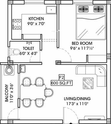 CC Jaya Parvat (1BHK+1T (600 sq ft) Apartment 600 sq ft)