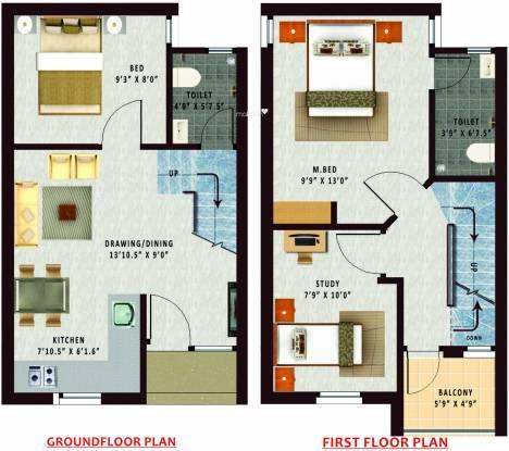 Annai Aaradhana 2 (3BHK+2T (810 sq ft) Villa 810 sq ft)