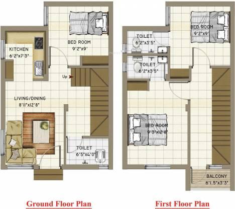 Annai Aaradhana 2 (3BHK+3T (940 sq ft) Villa 940 sq ft)