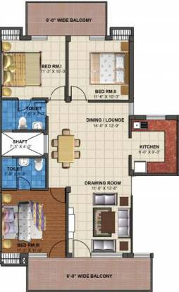TDI Emperor Floors (3BHK+2T (2,250 sq ft) Apartment 2250 sq ft)
