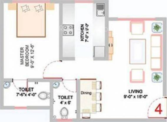 HGL Nand Dham Complex (1BHK+2T (600 sq ft) Apartment 600 sq ft)
