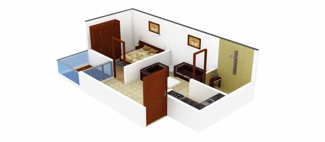 ABCZ East Sapphire (1BHK+1T (550 sq ft) Apartment 550 sq ft)
