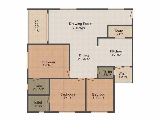 VR Sudha Kalash (3BHK+3T (1,710 sq ft) Apartment 1710 sq ft)