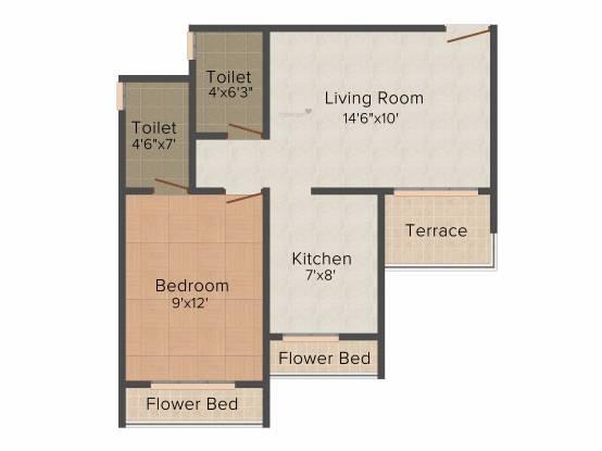Kailash Pratik Renaissance (1BHK+2T (715 sq ft) Apartment 715 sq ft)