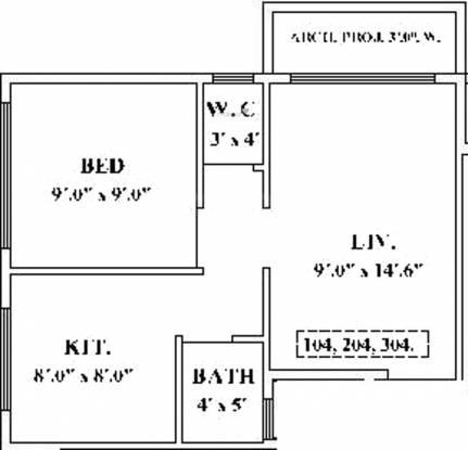 Ayan Nakshatra Homes (1BHK+1T (421 sq ft) Apartment 421 sq ft)