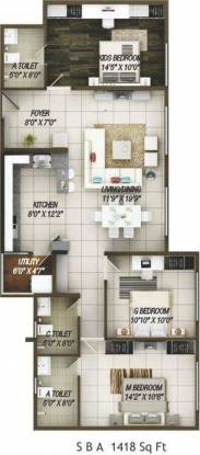 Concorde Epitome (3BHK+3T (1,418 sq ft) Apartment 1418 sq ft)