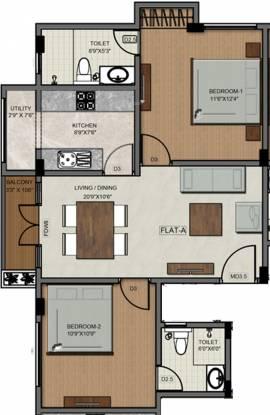 Sumanth Sreshta Madhurams (2BHK+2T (941 sq ft) Apartment 941 sq ft)