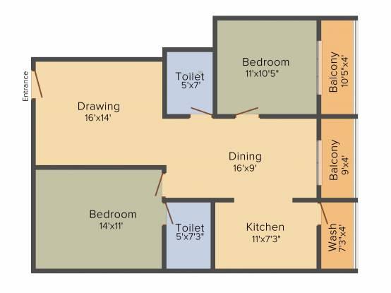 LVS Gardenia Phase 2 (2BHK+2T (1,150 sq ft) Apartment 1150 sq ft)