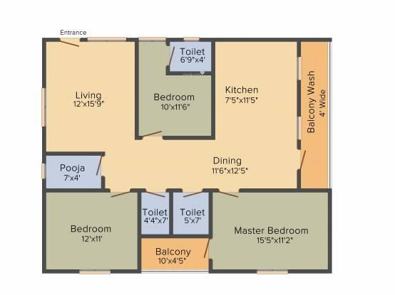 Prem Prem Sarovar (2BHK+2T (1,161 sq ft) Apartment 1161 sq ft)