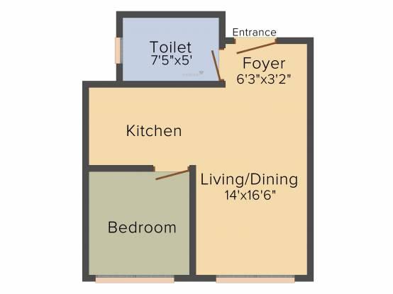 Citrus Motown Vega (1BHK+1T (423 sq ft) Apartment 423 sq ft)