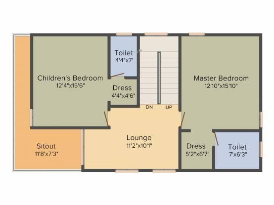 SV Ville Green (3BHK+4T (2,262 sq ft) + Pooja Room Villa 2262 sq ft)