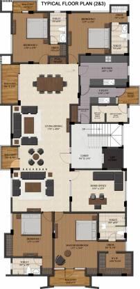 Sumanth Sreshta Kalpagam (4BHK+4T (3,332 sq ft) + Servant Room Apartment 3332 sq ft)