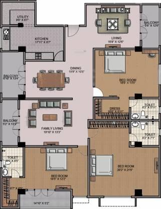 Sumanth Sreshta (3BHK+3T (3,321 sq ft) Apartment 3321 sq ft)