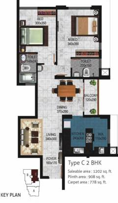 Cordon Viswaas (2BHK+2T (1,202 sq ft) Apartment 1202 sq ft)