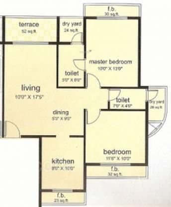 Metro Chaurang Heights (2BHK+2T (1,195 sq ft) Apartment 1195 sq ft)