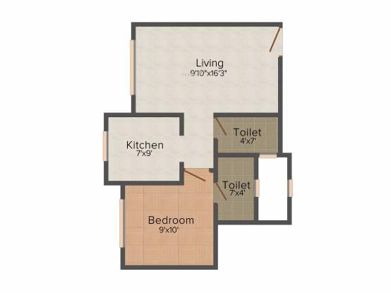 Shraddha Shraddha Heights (1BHK+1T (395 sq ft) Apartment 395 sq ft)