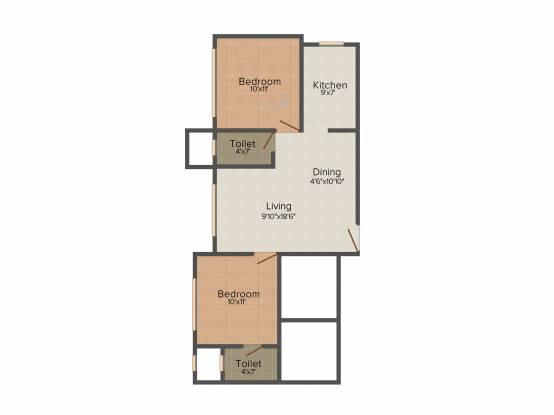 Shraddha Shraddha Heights (2BHK+2T (580 sq ft) Apartment 580 sq ft)