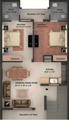 Elite Elite Home (2BHK+2T (900 sq ft) Apartment 900 sq ft)