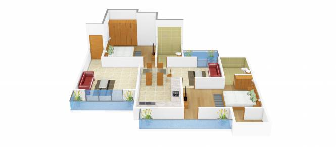 APS Panchkula Heights (2BHK+2T (1,350 sq ft) Apartment 1350 sq ft)