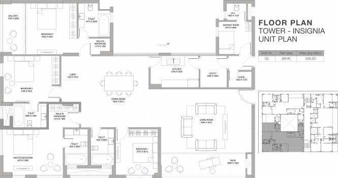Godrej Platinum (4BHK+4T (3,762 sq ft)   Servant Room Apartment 3762 sq ft)
