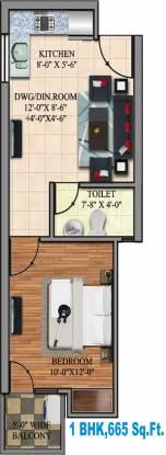 Dev Hitaishi Heights (1BHK+1T (665 sq ft) Apartment 665 sq ft)